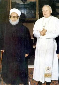 shaykh-ahmad-kaftaro-quallah-le-preserve-dans-sa-misericorde-en-compagnie-du-pape-jean-paul-ii